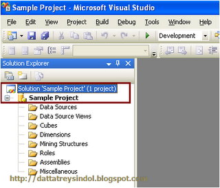 display the solution name in solution explorer by default in sql