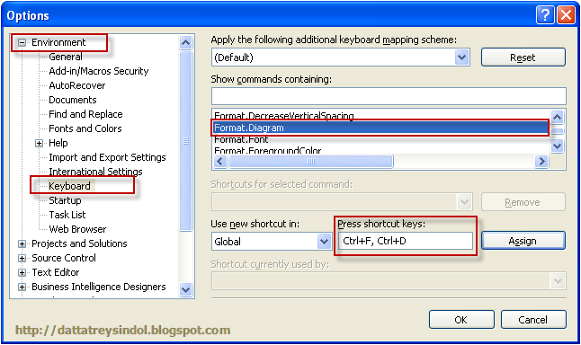formatting shortcuts in ssis package designer in business