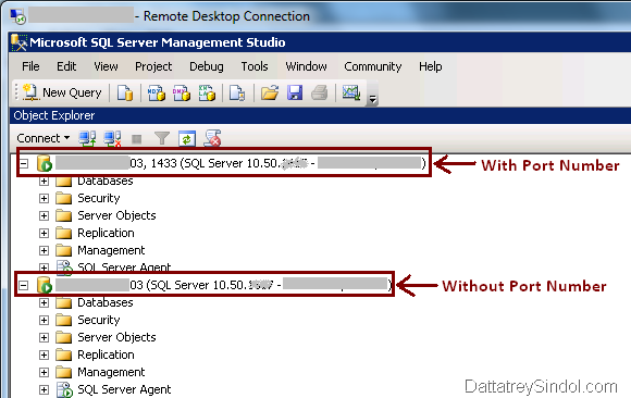 Ssms Specify Port Number While Connecting To Remote Sql Server