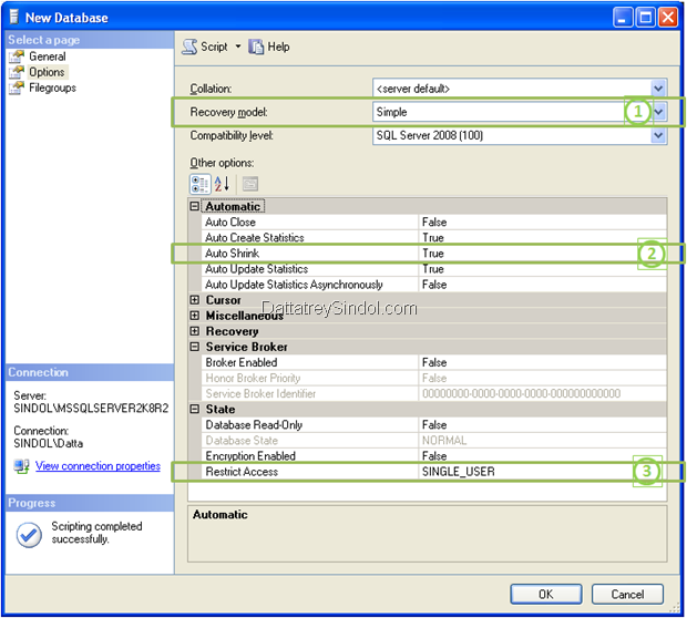 Demo of Scripting Actions in SQL Server Management Studio (SSMS)