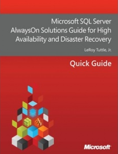 "Free E-Book on ""Microsoft SQL Server AlwaysOn Solutions Guide for High Availability and Disaster Recovery"""